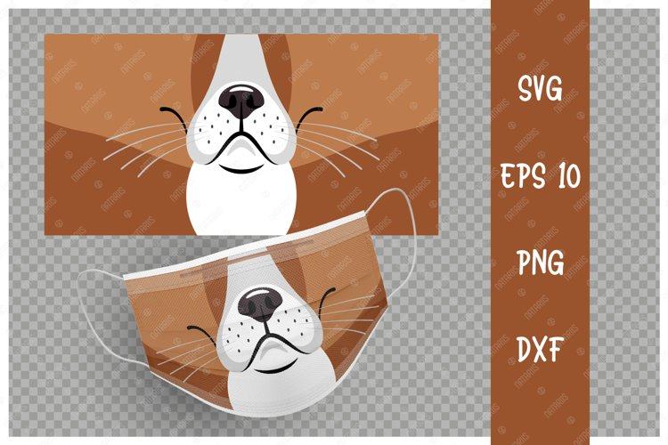 Cute Dog animal mouth for protective face mask. example image 1