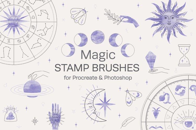Magic Stamp Brushes for Procreate example image 1