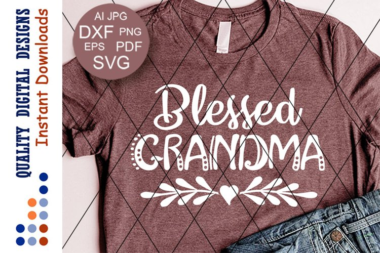 Blessed Grandma Svg Heart clipart Thanksgiving shirt example image 1