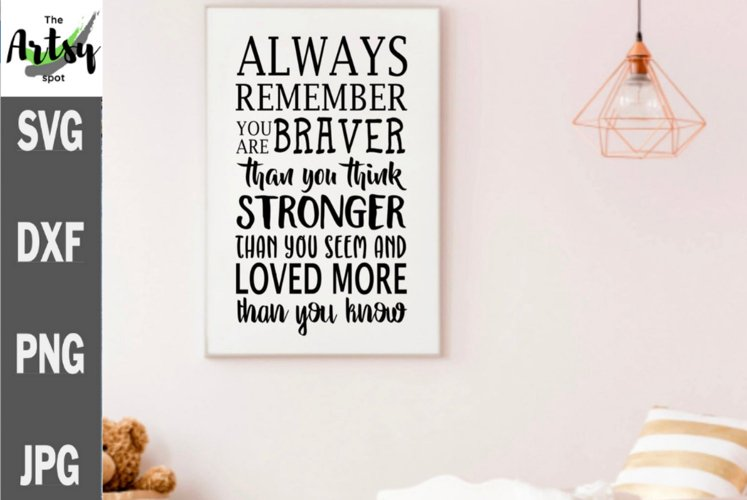 Always remember you are braver than you think, baby nursery