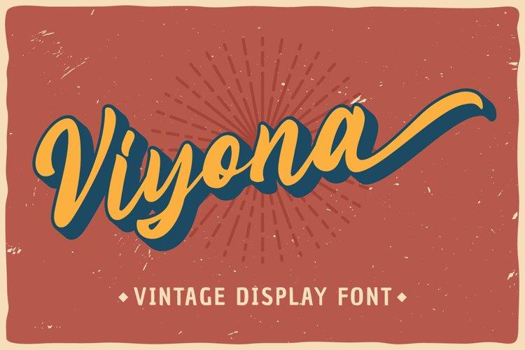 Viyona - Vintage Display Font example image 1