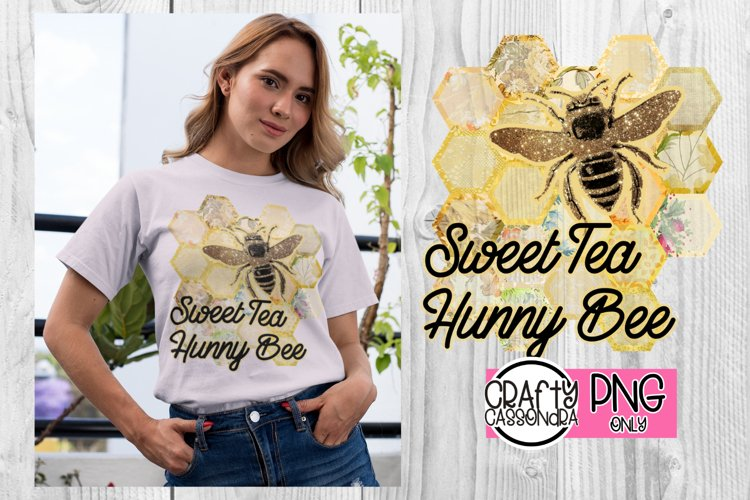 Sweet tea honey bee file for sublimation prints - honeycomb