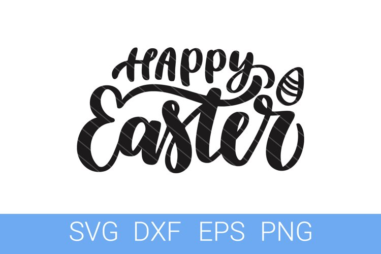 Easter SVG file, Happy Easter hand lettering example image 1