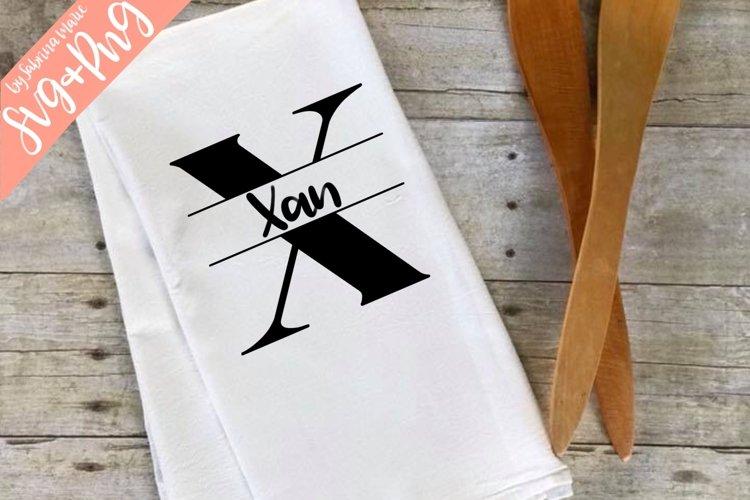 Split Monogram X - Handdrawn - SVG/PNG