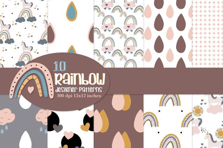 Rainbow repeat pattern, seamless paper designs