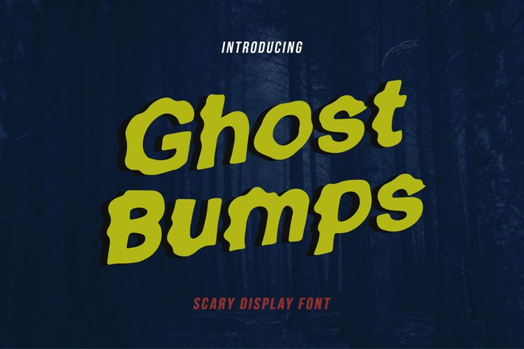 GhostBumps - Scary Display Font example image 1