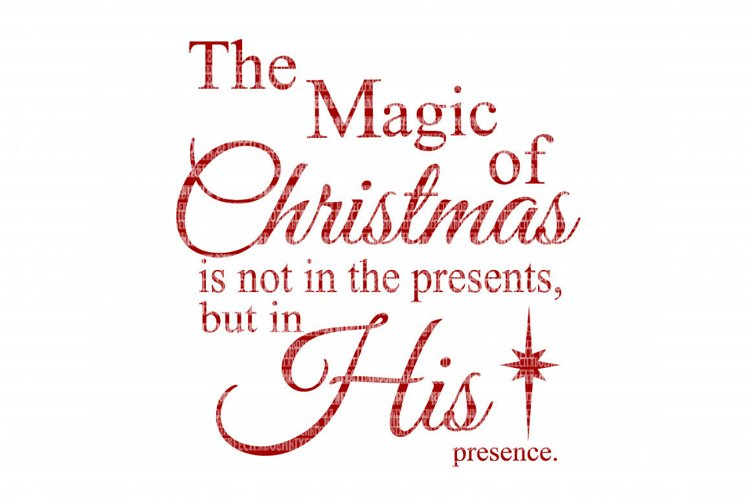 The Magic Of Christmas SVG File, SVG Files for Cameo and Cricut Design Space, Iron on Decal, Printable Transfer, DXF Commercial Use, example image 1