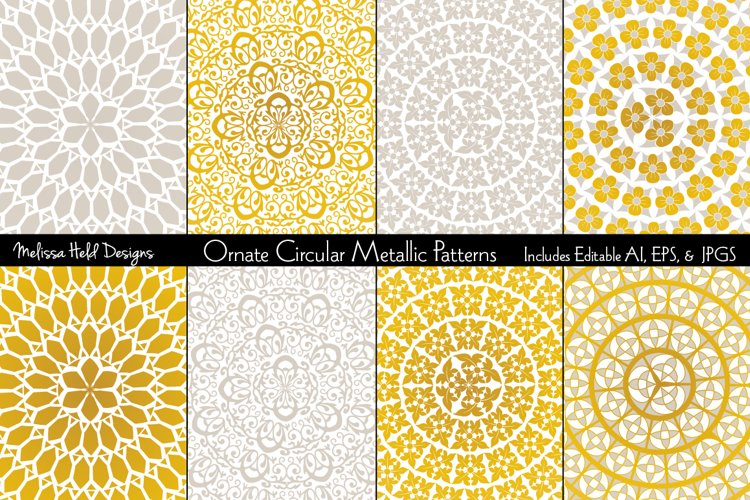 Ornate Circular Metallic Patterns example image 1