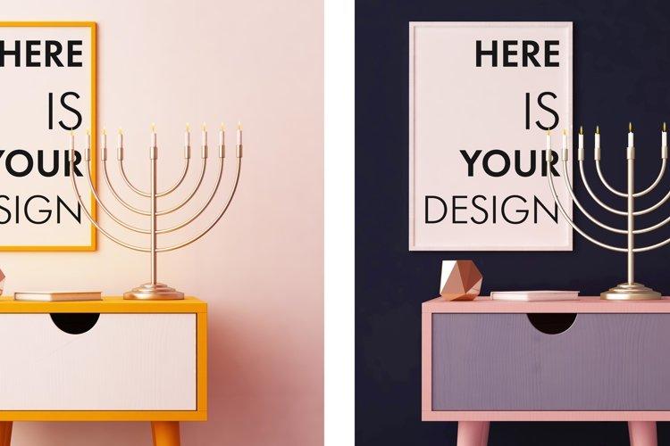 4 mockups posters for Hanukkah example image 1