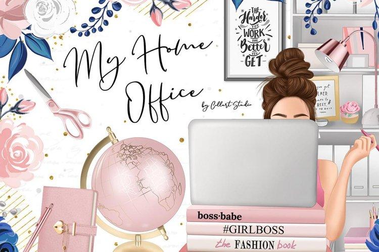 Planner girl clipart, girlboss Businesswoman blogger