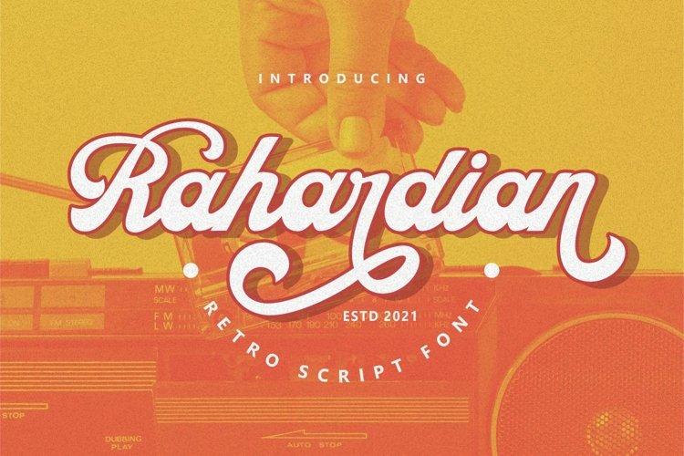 Rahardian - Retro Script Font