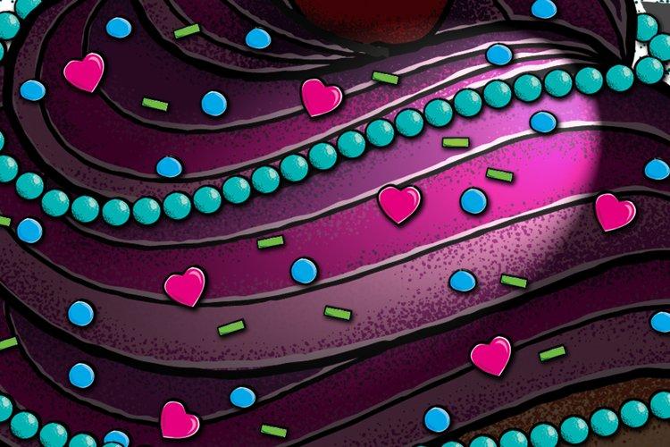 Pearls & Sugar Illustrator Brushes example image 1