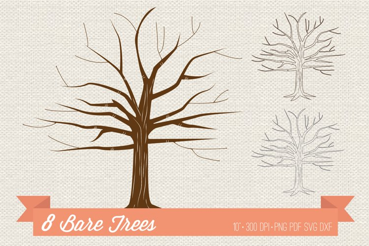 Bare Tree Clipart SVG DXF PNG PDF
