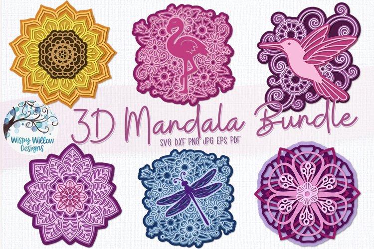 3D Mandala Bundle | 3D Layered Mandala SVG Bundle example image 1