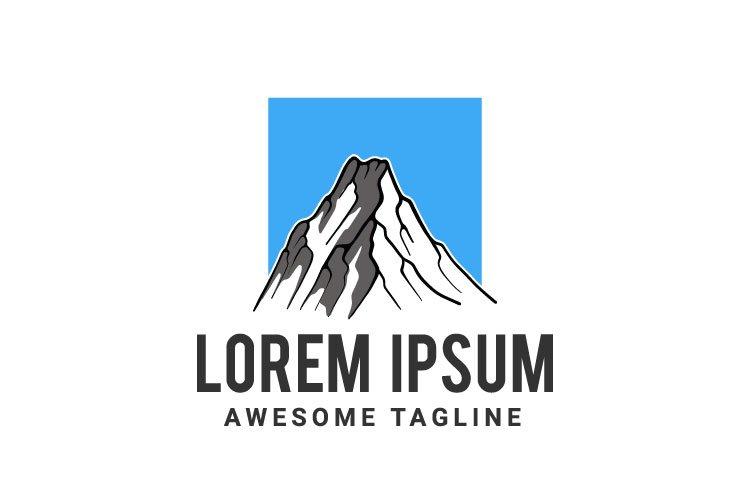 Mountain vector logo template.