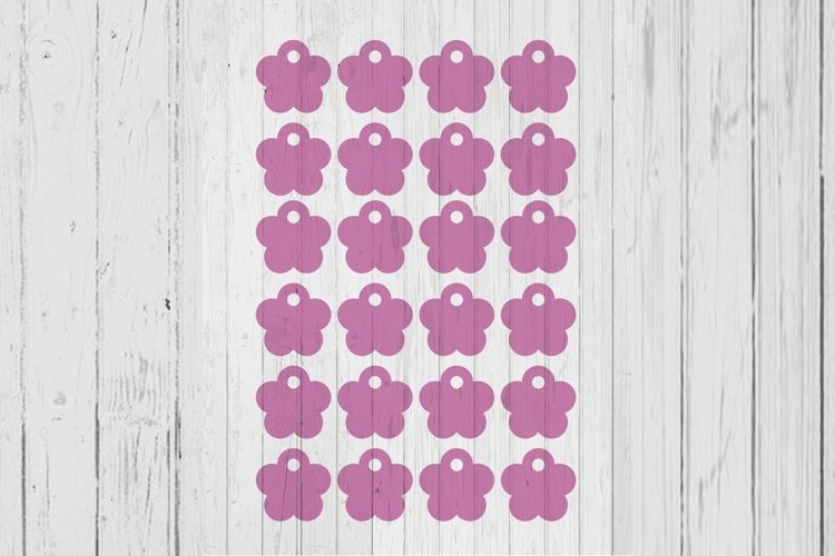 1.5 inch 5 petal flower tag price tag ai dxf sag png files i
