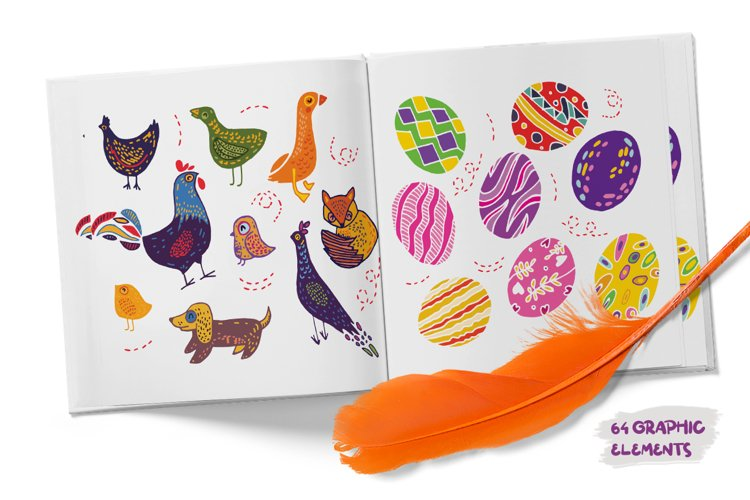 Easter SVG Cut Files - Scandinavian Easter Illustrations example 1