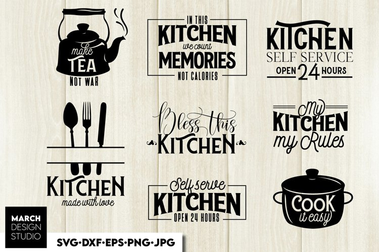 Kitchen SVG, Kitchen Quotes SVG, Pot Holder SVG, Kitchen example image 1