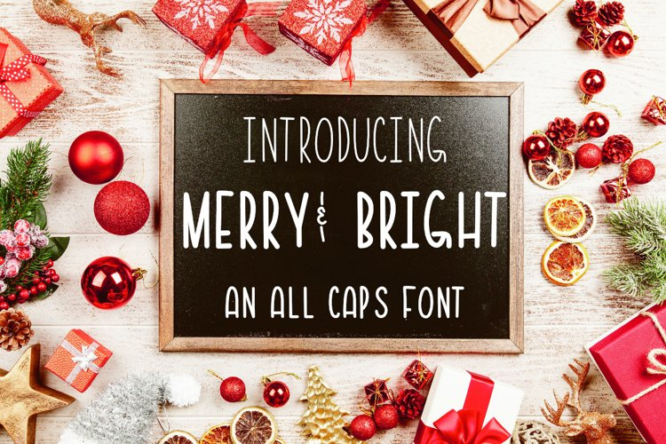 Merry & Bright All Caps Font