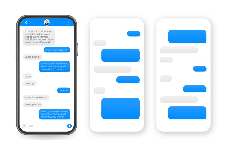 Chat Interface Application with Dialogue window. Clean Mobil example image 1