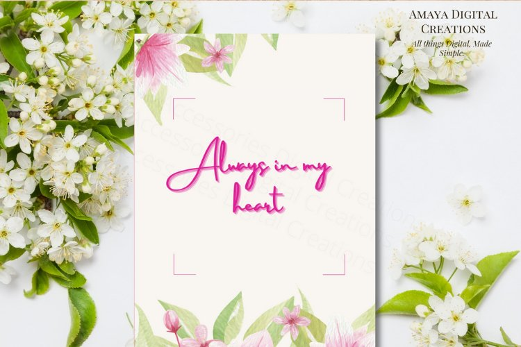 E card Always in my heart Card Instant Download example image 1