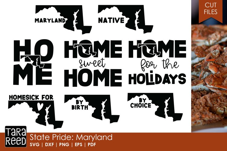 Maryland SVG and Cut Files for Crafters example image 1