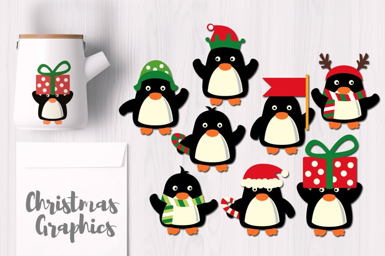 Cute Penguins, December Christmas Graphics example image 1