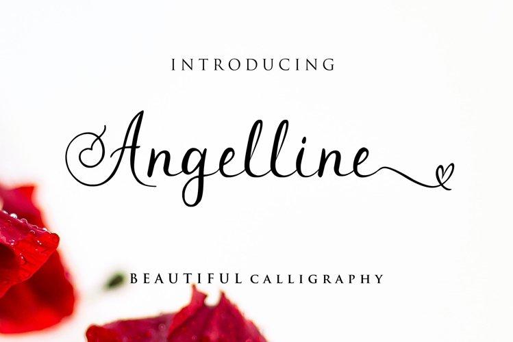 Angelline Modern Calligraphy Font example image 1