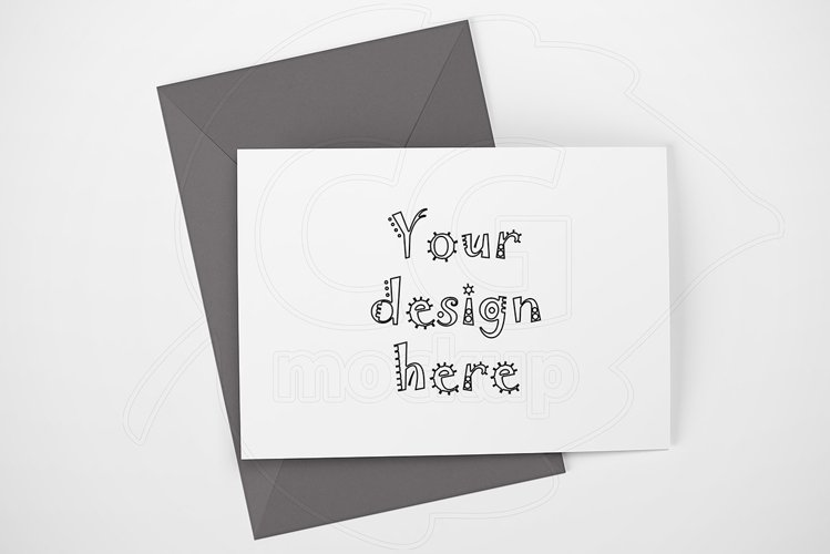 Landscape mockup greeting card A6 example image 1