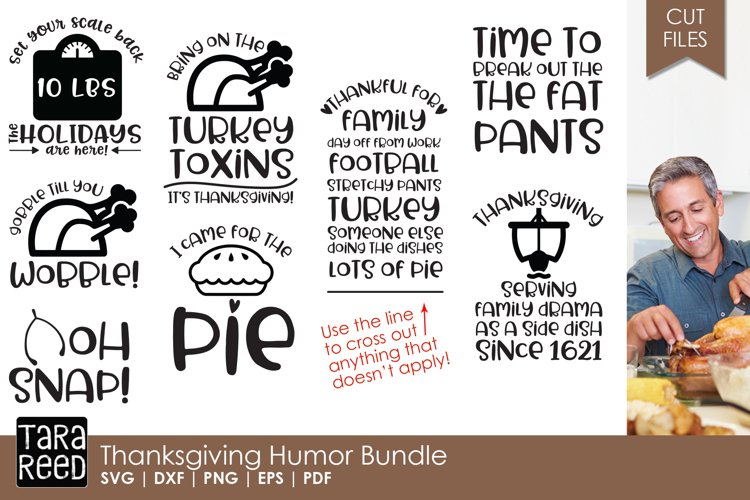 Thanksgiving Humor - Thanksgiving SVG files for Crafters example image 1