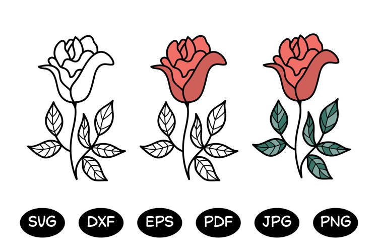 Rose - flower SVG files