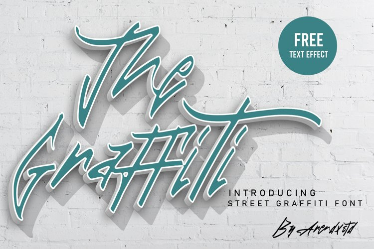 The Graffiti Font   Free Text Effect example image 1