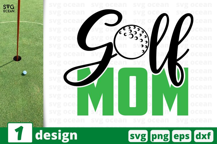 GOLF MOM SVG CUT FILE | Golfing cricut | Golf lover quote example image 1