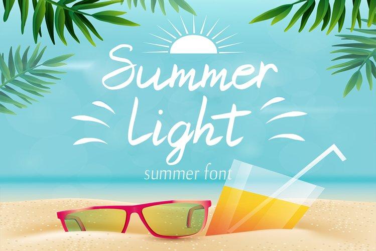 Summer Light Font example image 1