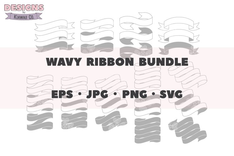 Wavy Ribbon Bundle, Single Line Ribbons, Multi Line Ribbons
