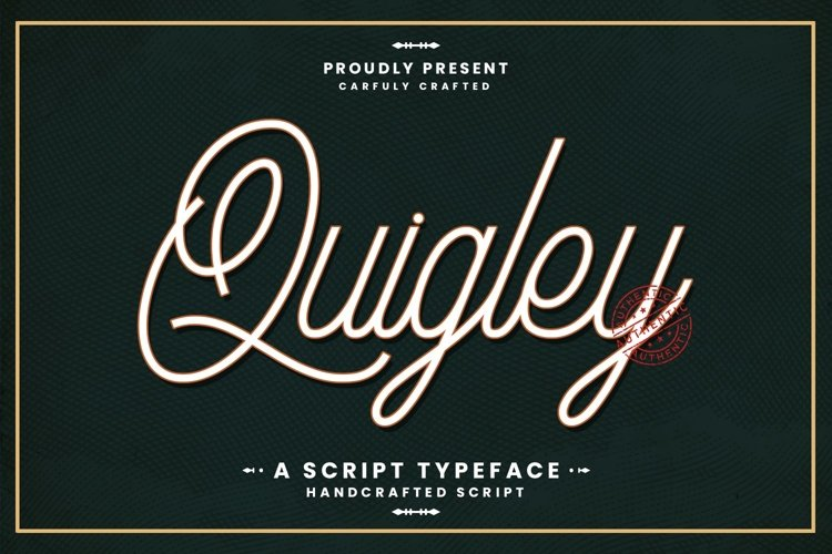 Web Font Quigley example image 1