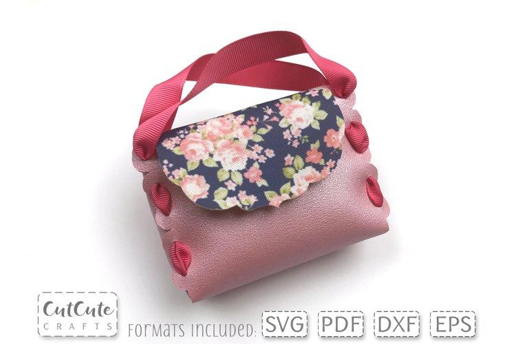 Mini Girls Purse Bag Template SVG for Cricut or Silhouette