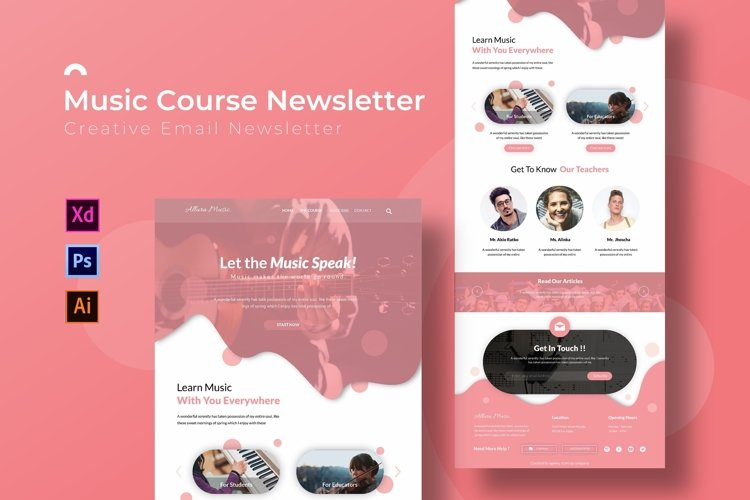 Music Course | Email Newsletter Template example image 1