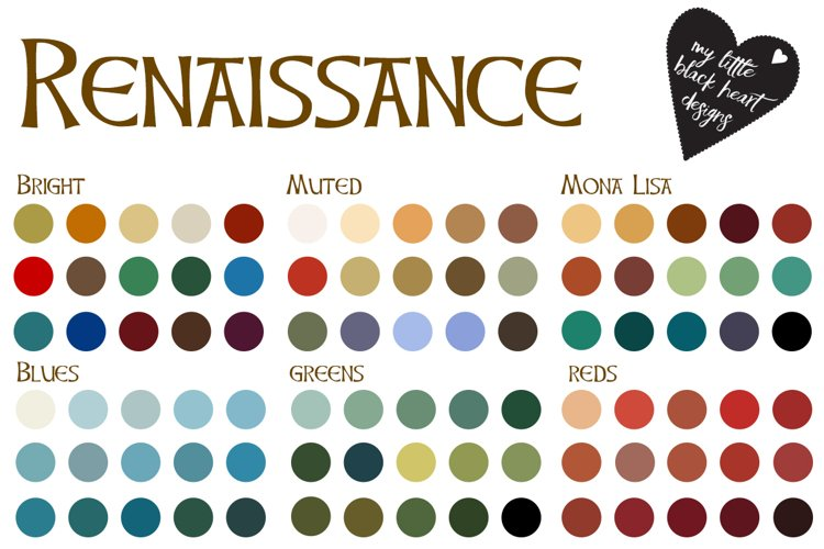 Tudor and Renaissance Colour Palettes