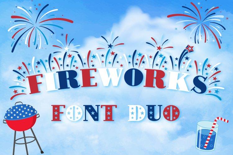Fireworks - 4th of July Font   Bonus Star Studded Font
