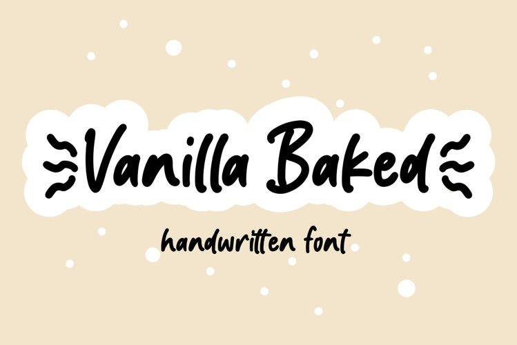 Vanilla Baked - Handwritten font example image 1