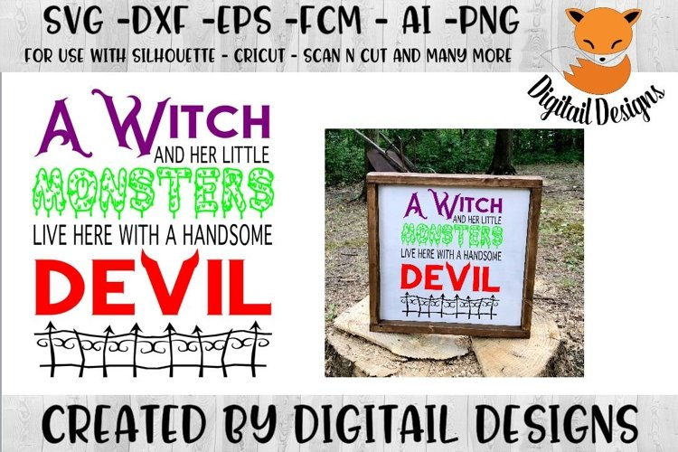 Witch SVG for Silhouette, Cricut, Scan N Cut example image 1