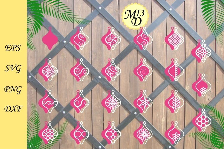 Wood Earrings SVG, 22 Earrings Cutting Templates example image 1