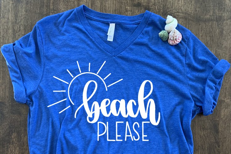 Beach Please SVG//cut file//SVG//PNG//Hand Drawn example image 1