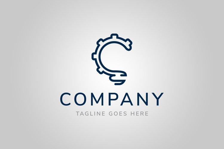 Bulb Gear Logo Template example image 1