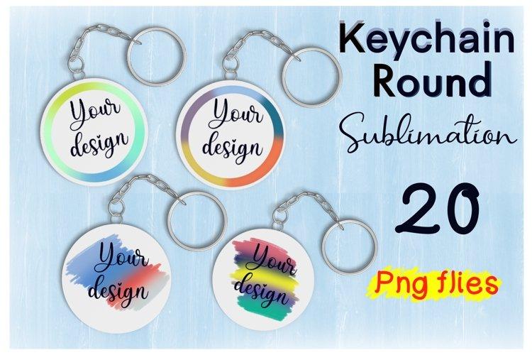 Keychain Rainbow Sublimation