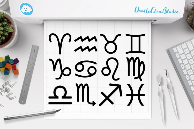 Zodiac Sign SVG, Horoscope Sign SVG, Astrology , Symbol SVG. example image 1