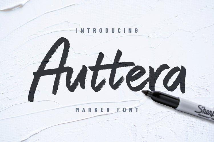 Auttera Marker/Brush Font example image 1