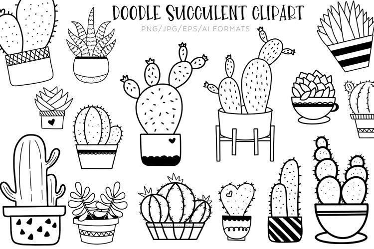 Doodle Succulent Clipart