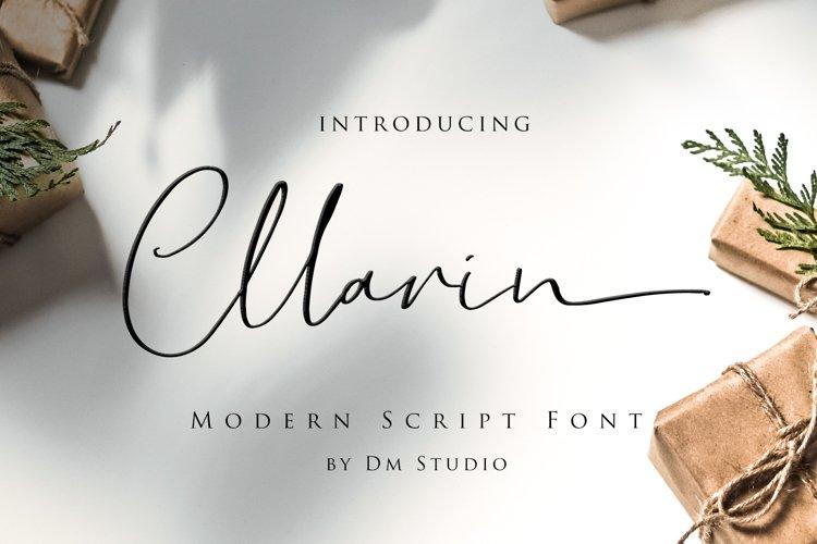 Cllarin - Modern Script Font example image 1